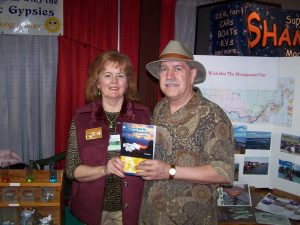 Barb and Ole the cover designer at RV Show