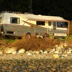 Spring camping in Powell River